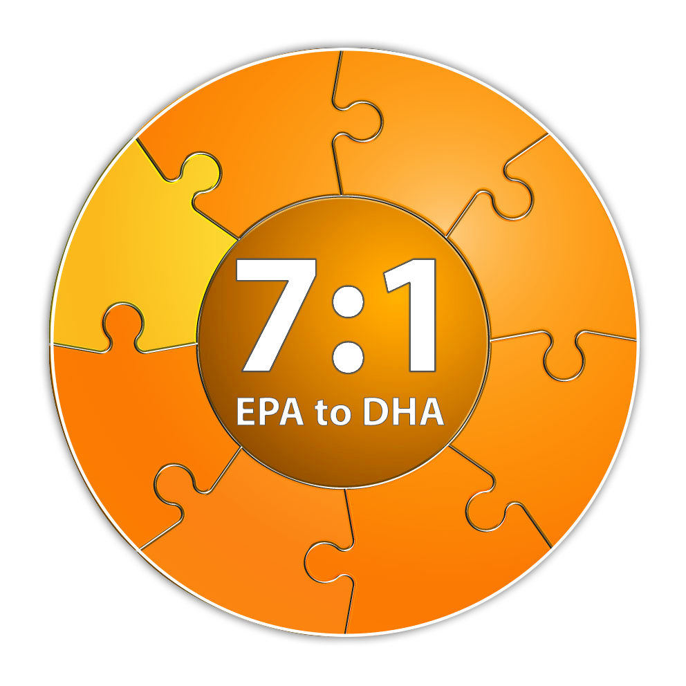 7:1 EPA to DHA Ratio of Omega 3 fish oil